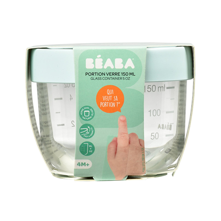 Picture of Beaba®  Glass&Silicone Container 150ml Light Blue