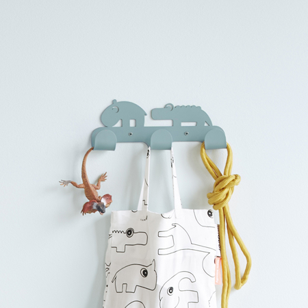 Done By Deer Wall Hooks Deer Friends - Grey