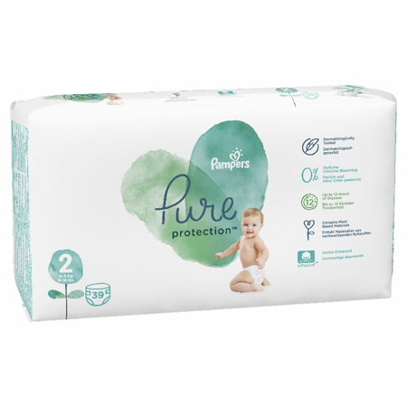 Picture of Pampers® Diapers Pure Protection Size 2 (4-8 kg) 39 Pcs.