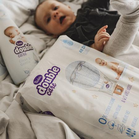 Picture of Violeta® Double Care Cotton Touch Diapers 5 (11-25kg) 36 Pcs