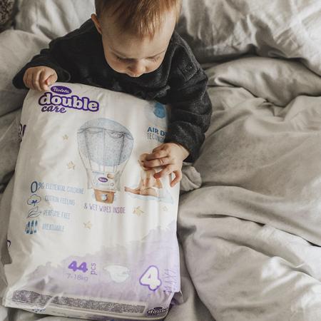 Violeta® Double Care Cotton Touch Diapers 4 (7-18kg) 44 Pcs