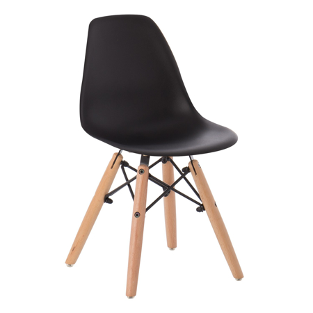Picture of EM Scandinavian Inspired Kid's Chair Black