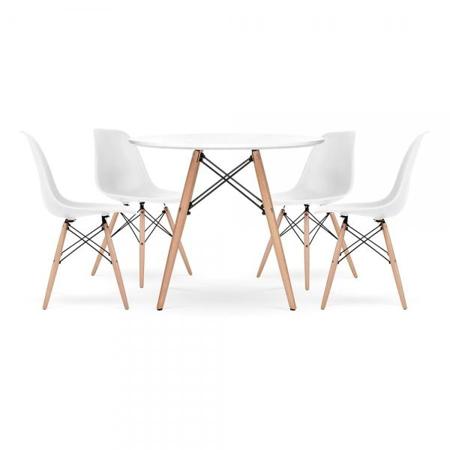 Immagine di EM Set tavolino e 4 sedie per bambini  White