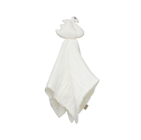 CamCam® Swan Cuddle Cloth Off-White 26x15