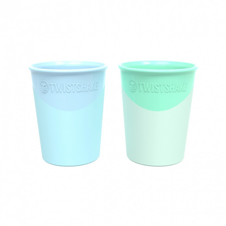 Twistshake 2x cups Pastel Blue&Green 170ml 6+M