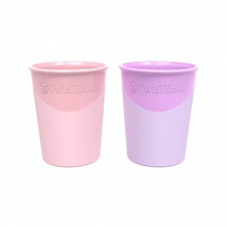 Picture of Twistshake 2x cups Pastel Pink&Purple 170ml 6+M