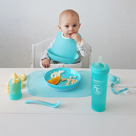Twistshake 2x Bib Pastel Blue&Green (4+M)