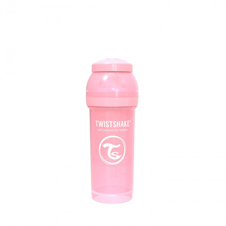 Picture of Twistshake Anti-Colic Bottle 260ml (2+M) - Pastel Pink