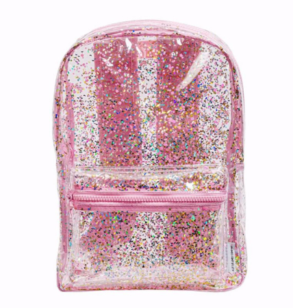 Picture of A Little Lovely Company® Backpack Glitter-Transparent/Pink