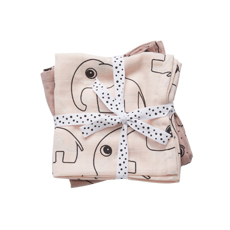 Done By Deer Swaddles 2-Pack Contour - Powder