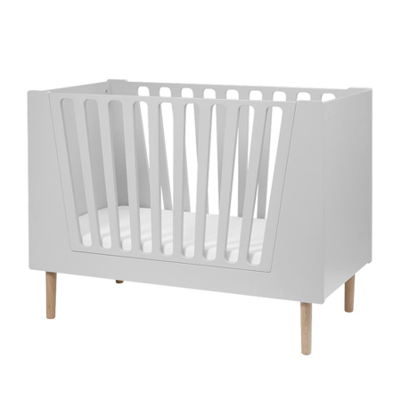Done By Deer Baby Cot 60x120 cm - Grey