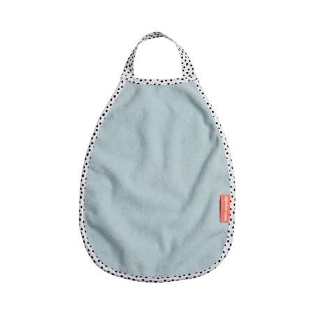 Picture of Done by Deer® Pullover Terry Bib Happy Dots Blue