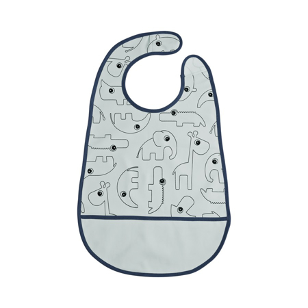 Picture of Done By Deer Bib With Velcro Contour - Blue