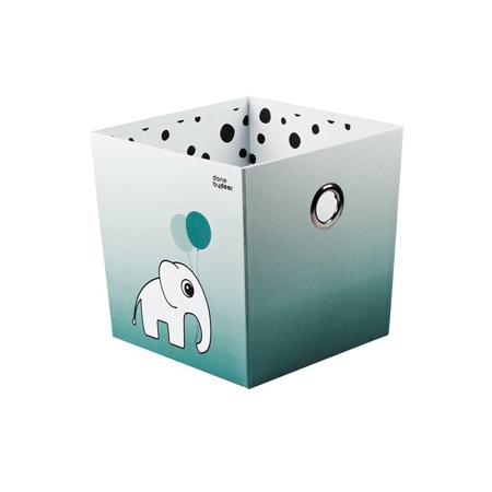 Done by Deer® Škatla za shranjevanje Happy Dots - Svetlo Modra