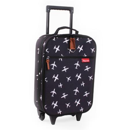 Kidzroom® Trolley Suitcase Black&White Planes