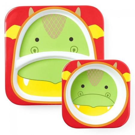 Picture of Skip Hop® Melamine Plate&Bowl Set Dragon