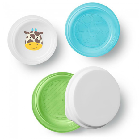 Picture of Skip Hop® Smart Serve Non-Slip Bowls Giraffe