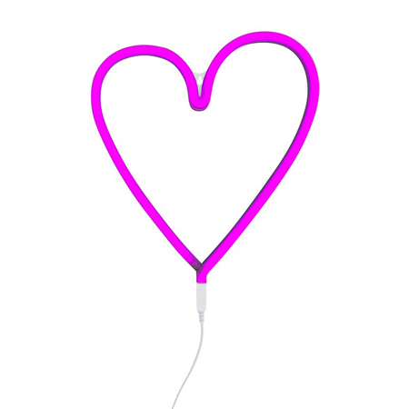 A Little Lovely Company® Neon Style Light Heart - Pink