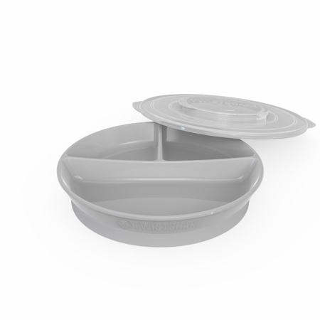 Picture of Twistshake Divided Plate 210ml +2x90ml (6+M) - Grey