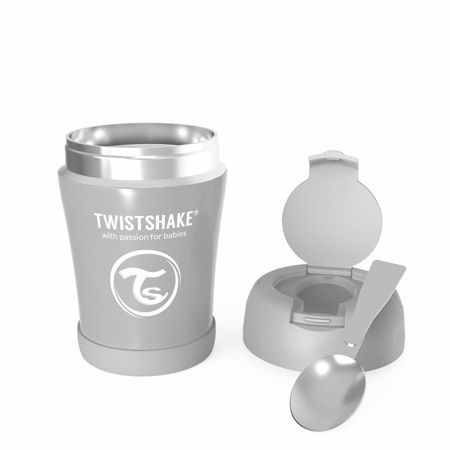 Twistshake® Stainless Steel Food Container Grey
