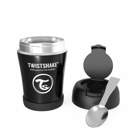 Twistshake® Stainless Steel Food Container Black