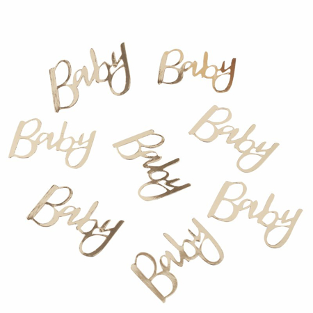 Picture of Ginger Ray® Gold Foiled Baby Confetti Oh Baby!