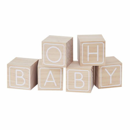 Picture of Ginger Ray® Building Block Guest Book Alternative Oh Baby!