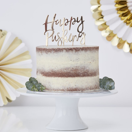Immagine di Ginger Ray® Decorazione torta Happy Pushing