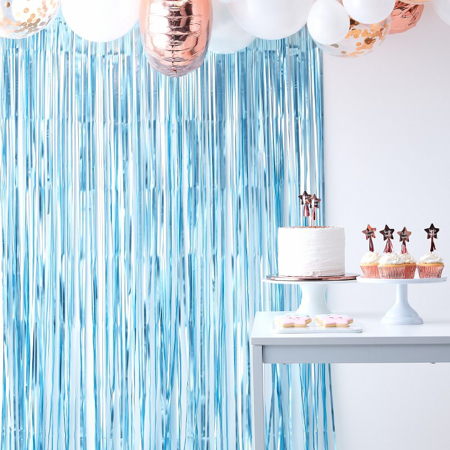 Picture of Ginger Ray® Matte Blue Curtain Backdrop Twinkle Twinkle