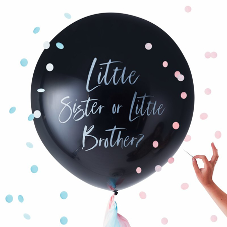 Ginger Ray® Gender Reveal Little Brother Or Sister Balloon Twinkle Twinkle