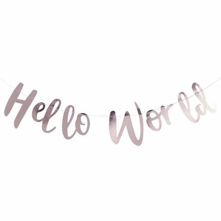 Ginger Ray® Rose Gold Bunting Hello World