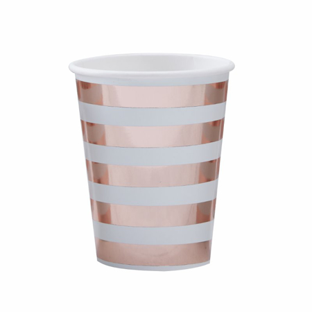 Ginger Ray® Gold Foiled Baby Shower Paper Cups Hello World