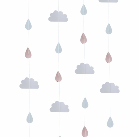 Picture of Ginger Ray® Rose Gold & Clouds Backdrop Hello World