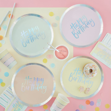 Picture of Ginger Ray® Pastel paper plates Pastel Party