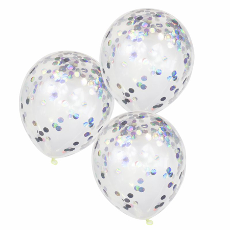 Picture of Ginger Ray® Iridescent Confetti Balloons Pastel Party