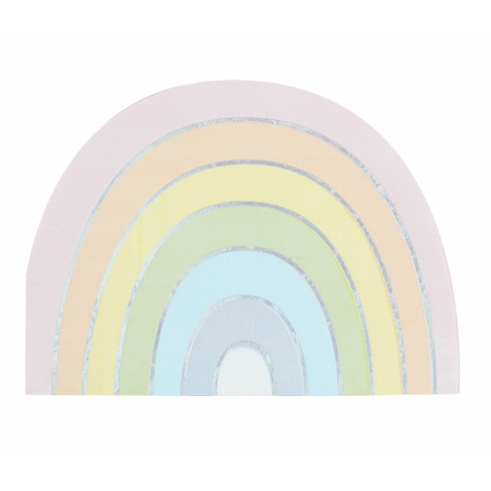 Picture of Ginger Ray® Pastel & Iridescent Rainbow Paper Napkins Pastel Party