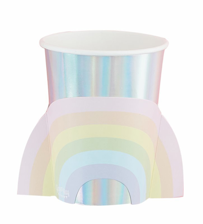 Ginger Ray® Rainbow & Iridescent Paper Cups Pastel Party