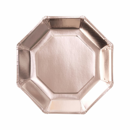 Picture of Ginger Ray® Rose Gold Paper Plates Pick & Mix