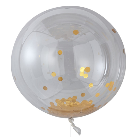 Picture of Ginger Ray® Large Gold Confetti Orb Ballons Pick and Mix