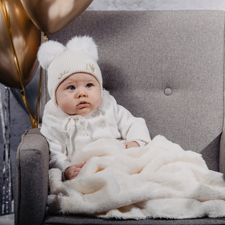 Picture of Jamiks® Children's Winter Cap Zina Ecru