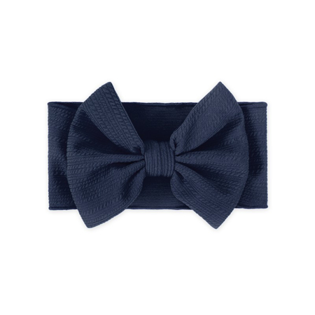 Wide Elastic Bowtie Headband Blue