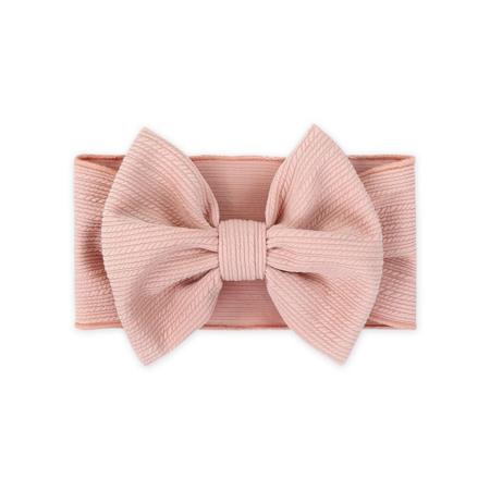 Wide Elastic Bowtie Headband Pink