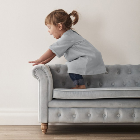 Picture of Kids Concept® Sofa Chesterfield Velvet Light Blue