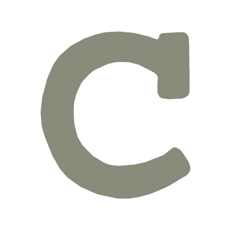 BamBam® Wooden Letters Grey - C