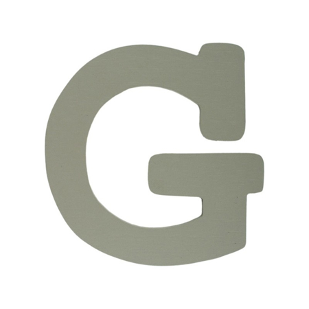 BamBam® Wooden Letters Grey - G