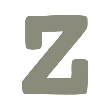 BamBam® Wooden Letters Grey - Z