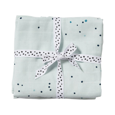Picture of Done by Deer® Swaddle 2-pack Dreamy dots blue 120x120