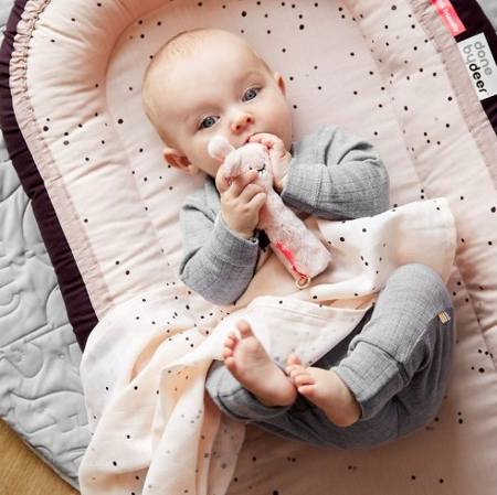 Picture of Done by Deer® Swaddle 2-pack Dreamy dots powder 120x120