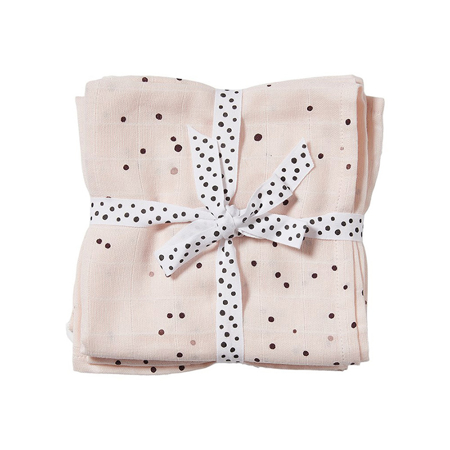 Picture of Done by Deer® Burp cloth 2-pack Dreamy dots powder