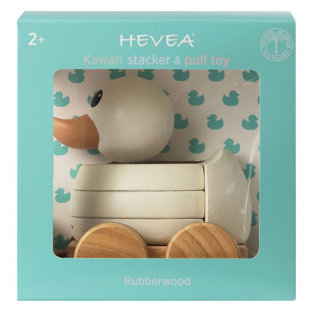 Picture of Hevea®  Kawan rubberwood stacker & pull toy